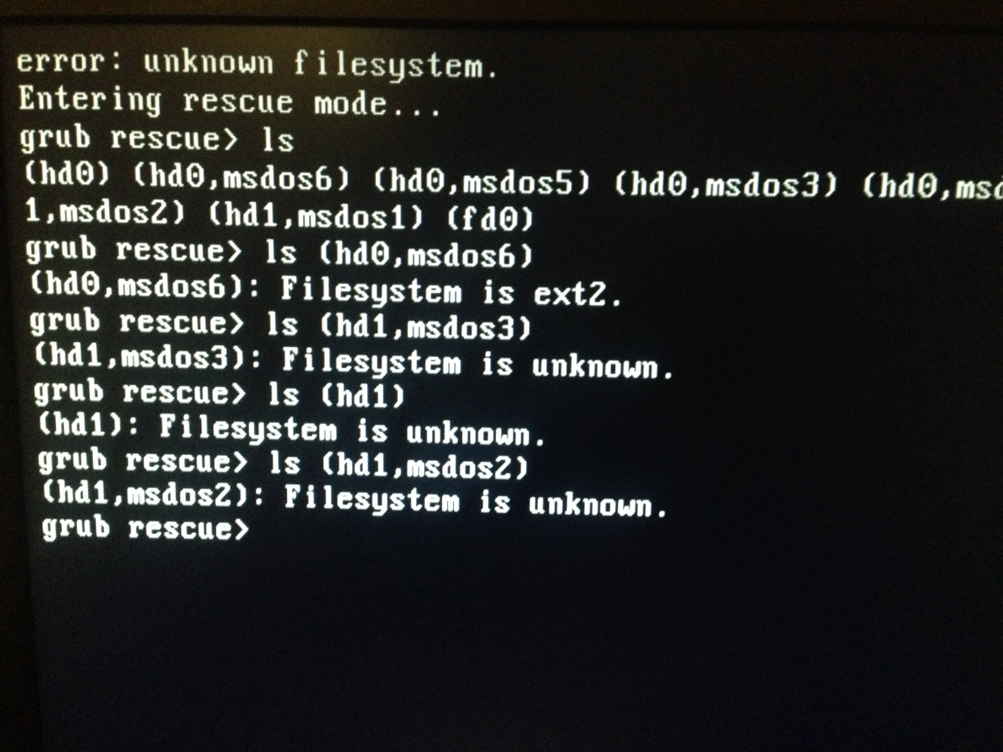 solved] Unknown file system, grub rescue - Support - OMA forum